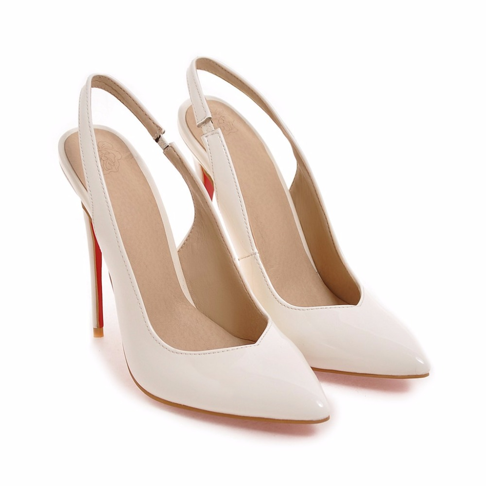 2017 New Big Size Sale 33-48 Sexy Pointed Toe Summer sandals Women Pumps Super High Heels Ladies Wedding  Party Shoes y-40 big size sale 34 43 new fashion sexy pointed toe women pumps spring summer autumn high heels ladies wedding party shoes 6629