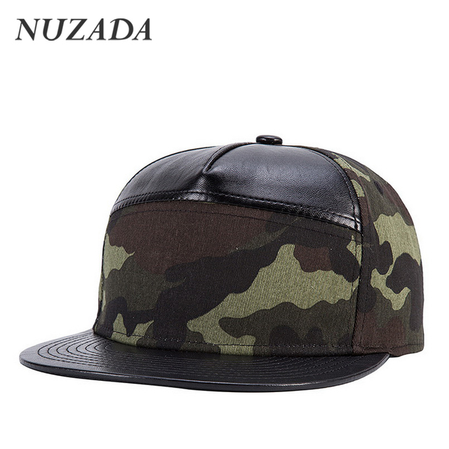 Brands NUZADA Men Women Baseball Cap Snapback Fashion Classic Bone Sports Hats Caps Hip Hop PU Leather Trend jt-113