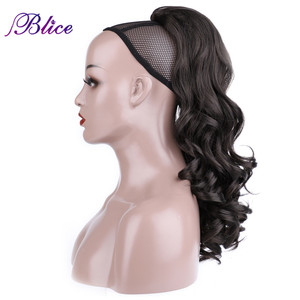 """Image 2 - Blice Synthetic Curly Ponytail 20"""" 22"""" Ponytail Hair Extensions Long Hairpiece With Two Plastic Combs Drawstring Style"""