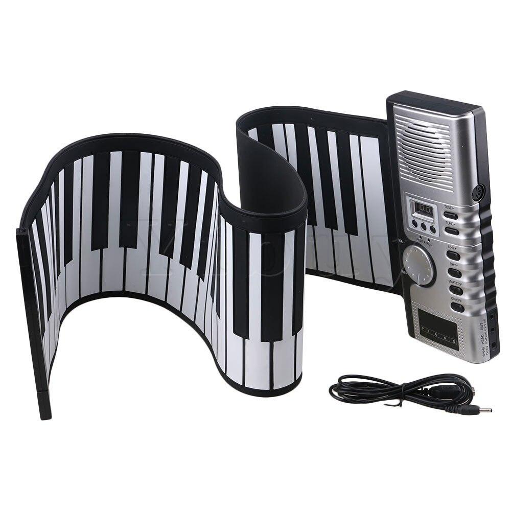 Yibuy Black Flexible Soft 61 Keys Digital Roll-up Electronic Keyboard Piano Multi Functions Support Tone Rhythm Demo Songs футболка классическая printio the black keys