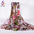 Ladies Peacock White Long Scarves 2016 Winter New Style Oversized Silk Scarf Shawl 200*110cm Spring Autumn Mulberry Silk Scarves