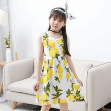 Girls Clothing Mango Girls Dresses 2018 Summer Flower Children Clothes  Print Sleeveless Princess Casual Baby Kids 19d1c5d7498f