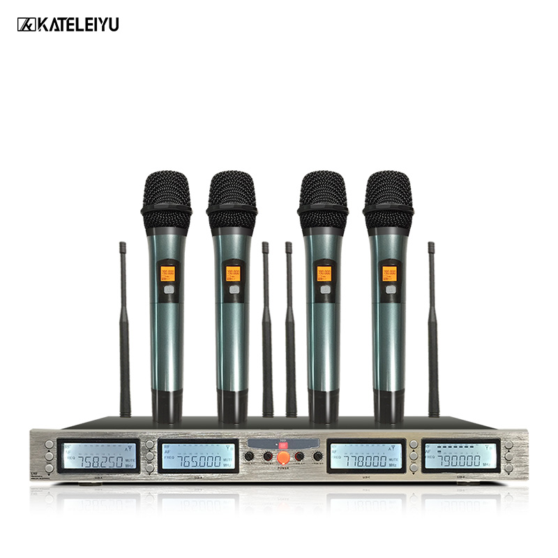 professional microphone 200 channel optional frequency 4 channel handheld wireless microphone. Black Bedroom Furniture Sets. Home Design Ideas