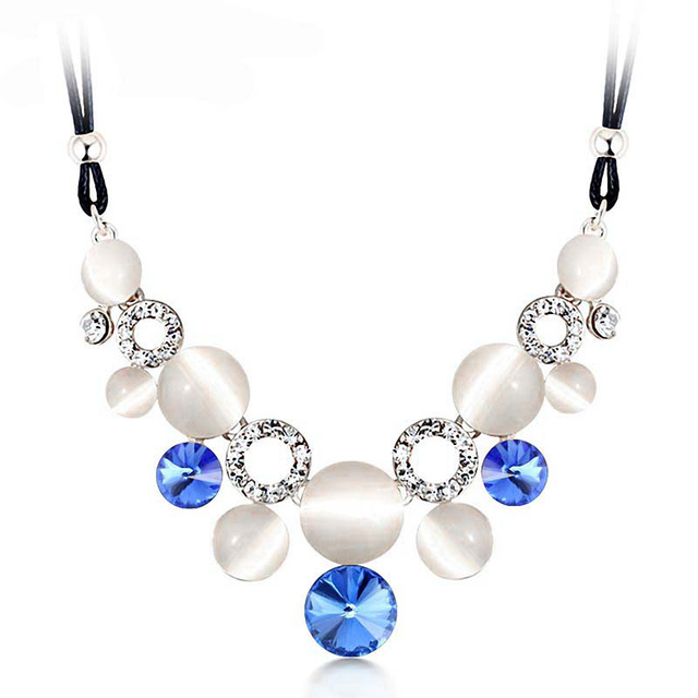 Crystal Rhinestone Necklaces With Rope Chain