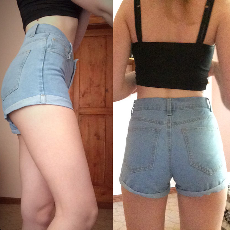 Vintage High Waist Crimping Denim Shorts Women 2018 Europe Style New  Fashion Brand Slim Casual Femme Short Jeans Mujer Plus Size 9b44c8d68b0