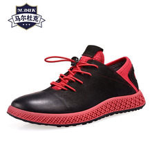 Genuine Leather Leisure Shoes mens spring autumn British retro cowhide breathable sneaker fashion boots men casual shoes luxury
