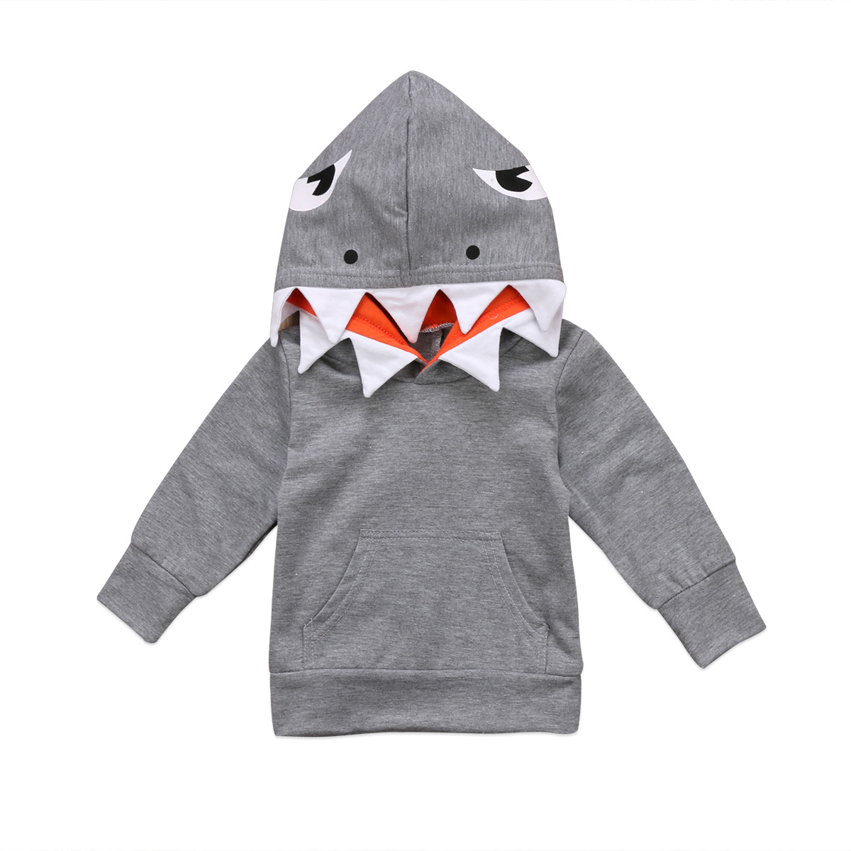 Unisex Toddler Kids Baby Boys Girls Shark Hooded Tops Hoodie Pocket Jacket Coat Outerwear Casual NEW(China)
