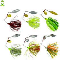 Купить с кэшбэком JSM 10 pcs/lot fishing spoon lures spinner bait for Bass Pike fishing wobbler metal baits spinnerbait isca artificial hard lure