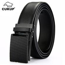 CUKUP Personality Unique Design Type Automatic Buckle Genuine Leather Belt Mens Casual Style Belts Accessories for Men NCK658