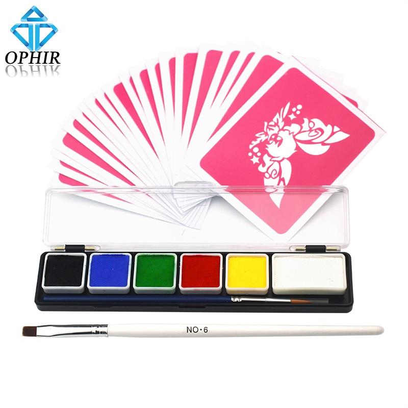 ⊹Ophir 50g 6 colores del arco iris Cara Cuerpo pigmento para ...