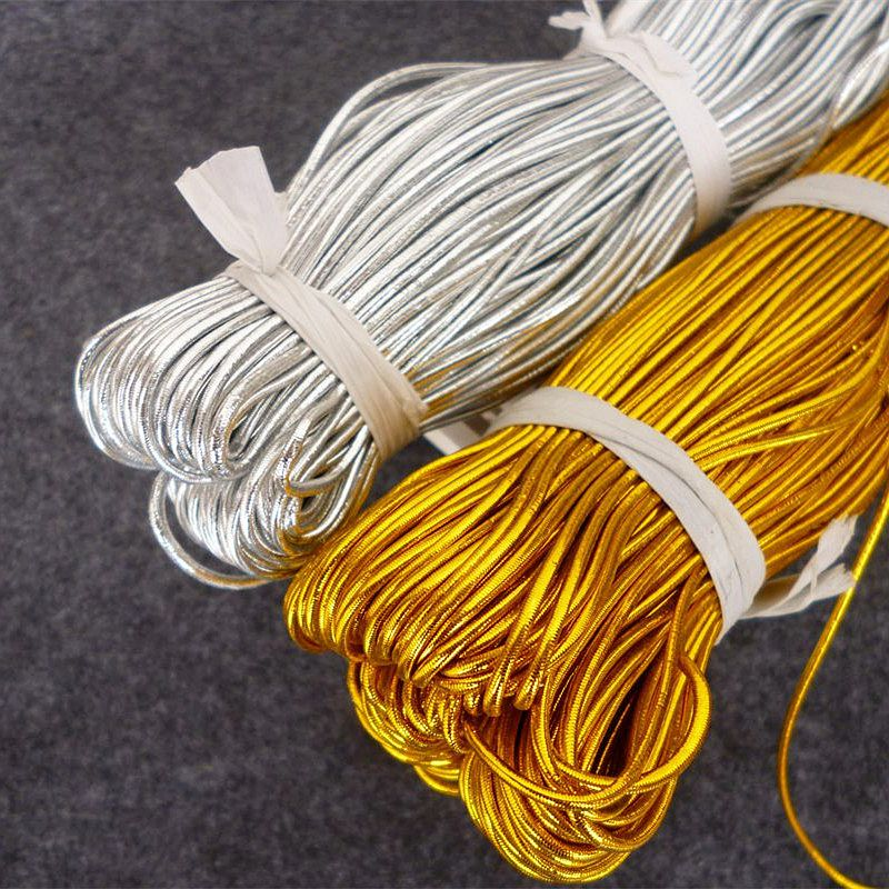 1mm 2mm Gold Silver Rubber Cord