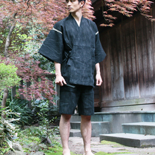 Summer 95% cotton Japan style Kimono pajamas sets for men Male short sleeve