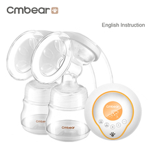 New Large Suction double bottle Electric Breast Pump breast feeding Advanced automatic massage USB electric Breast Pumps ZRX0706