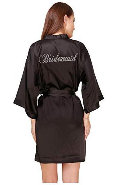 Bridesmaid Robe women bathrobe robes Kimono Pajamas gowns women home robes  clothes Silk white dress Terry bathrobe sleepwear e0cc46920