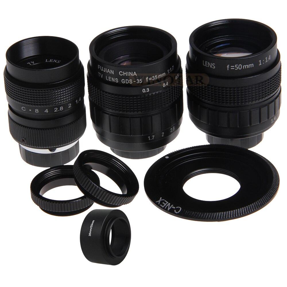 FUJIAN 35mm F1.7 CCTV Movie Lens + 25mm f1.4 TV Lens + 50mm f1.4 TV Lens for SONY E Mount A6500 A6300 A6100 NEX Series Camera fujian 35mm f1 7 cctv movie lens 50mm f1 4 cctv tv lens c mount for pentax q q7 q10 q s1 adapter ring c pq lens hood