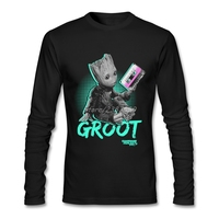 Guardians Of The Galaxy Groot T Shirt Popular Tailored Custom Long Sleeve High Quality T Shirts