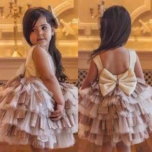 Summer New Princess Baby Girl Toddler Party Tutu Dress Pageant Wedding Birthday Gown Formal Lovely Dresses