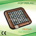 2014 New Natural hexagon jade heating pad and sitting mattress POP RELAX PR-C06B 45x45cm