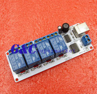 Smart Home 12V 4 Channel USB Relay Module Programmable Computer Control