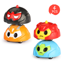 4PCS Stunt Gyroscope Rotating Spinning Animal Inertial Vehicle Sliding Toys for Children Christmas Birthday Gift