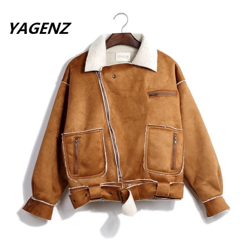 Hiver nouveau femmes coton veste courte conception manteau dames PU daim collège vent peau de daim cachemire étudiant femme décontracté veste