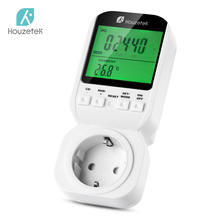 Thermostat Timer Switch, Houzetek 20 ON/OFF Programmer Digital Automatic Temperature Electric Socket EU Plug