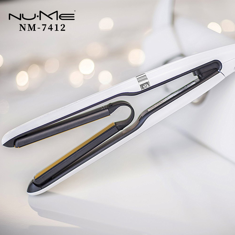 Professional Ceramic Flat Iron 3 D Floating Plates Hair Straightener LED Display Hair Curler Curling Iron Salon Styling Tools mch flexible 3d floating ceramic wide plates flat iron far infrared hair straightener straightening curling with negative ions
