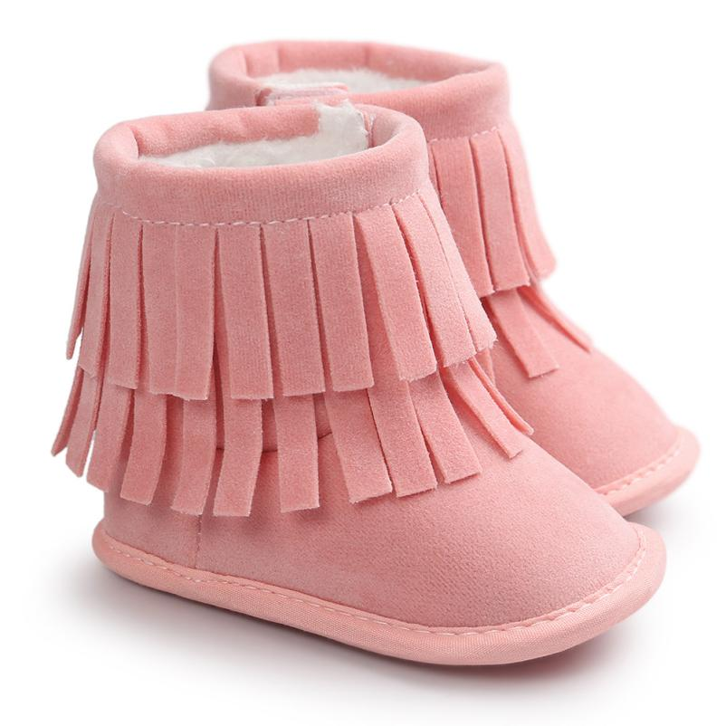 Baby font b Boots b font 2017 Fashion Baby Keep Warm Double deck Tassels Soft Sole