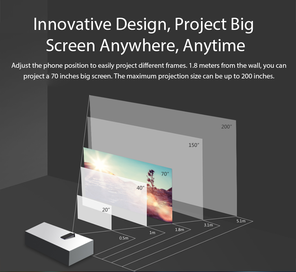 """Image 5 - Blackview MAX 1 Smartphone 6GB+64GB 6.01"""" Screen 4680mAh MT6763T Octa Core Android 8.1 Dual SIM Mobile Phone NFC Mini Projector-in Cellphones from Cellphones & Telecommunications"""