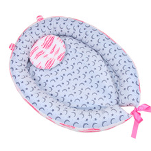 купить Multifunctional Baby Sleeping Pad Portable Folding Newborn Baby Bed Travel Crib Removable and Washable Cotton Nest Children Kids дешево