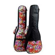 Special 21 soprano 23 24 concert 26 inch tenor ukulele bag uke backpack case soft gig padded pattern red flower creative gifts