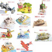 Горячая 3d сложный паззл с архитектурой головоломка модель бумаги diy обучения и образования популярные игрушки для мальчиков и детей и взрослых