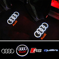 2x Car LED Ghost Shadow Projector Laser Logo Light For Audi S line A4 A3 A6 C5 Q7 Q5 A1 A5 80 TT A8 Q3 A7 R8 RS B6 B7 B8 S3 S4
