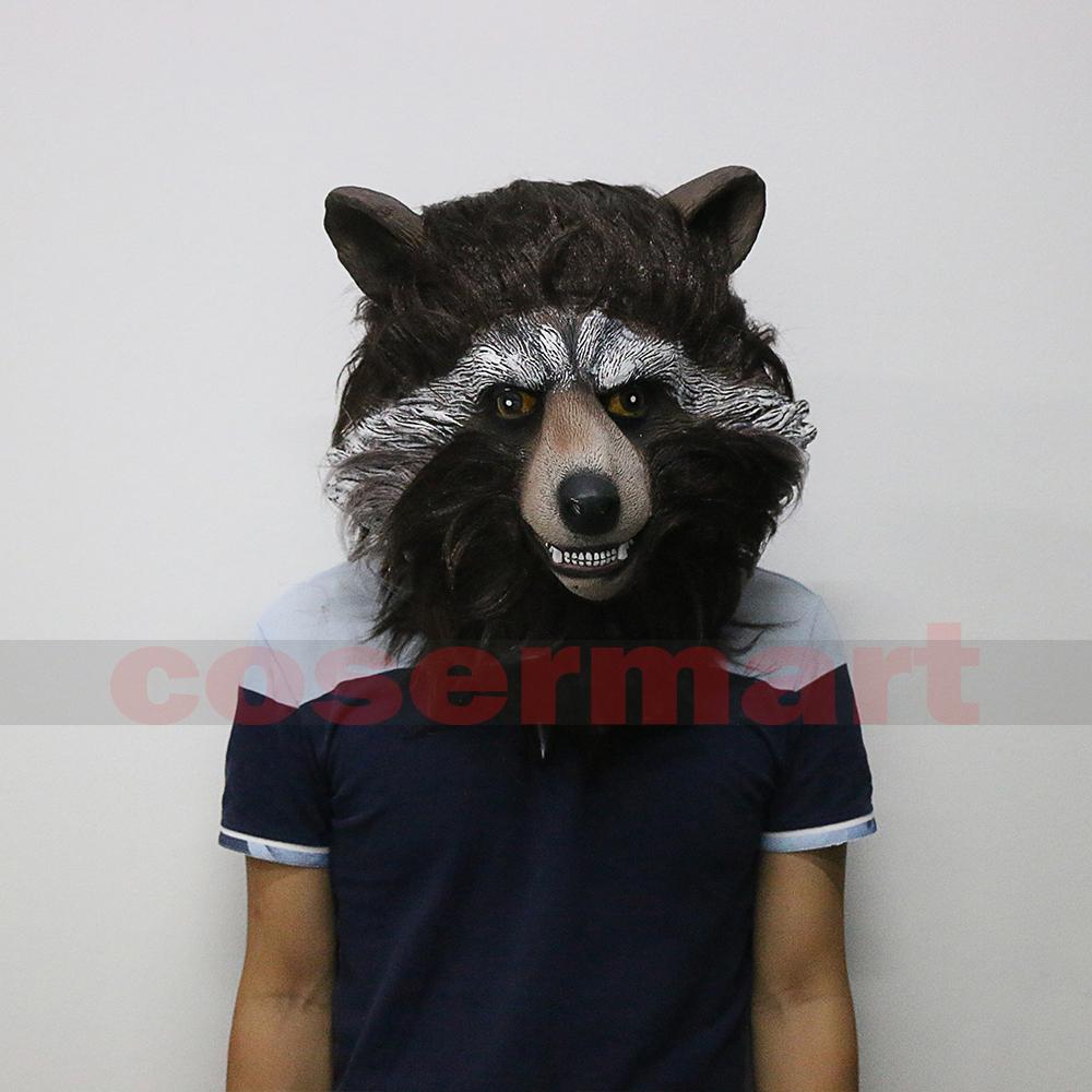 Guardians of the Galaxy 2 Rocket Raccoon Mask Marvel Movie Superhero Groot Peter Quill Helmet Cosplay Mask Halloween Party Prop