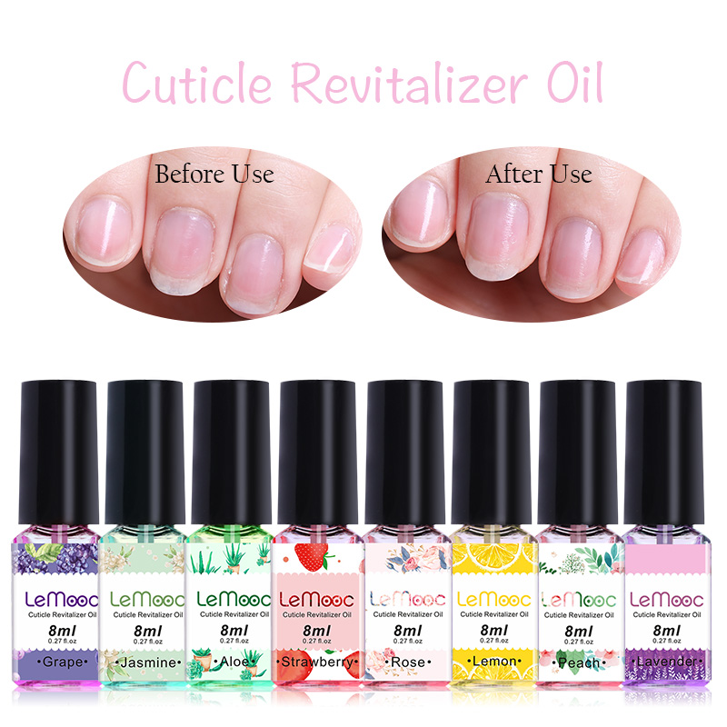 8ml Nail Cuticle Oil Transparent Revitalizer Nutrition Cuticle Oil Flower Flavor Nail Care Nail Treatment Tool Manicure for nail image