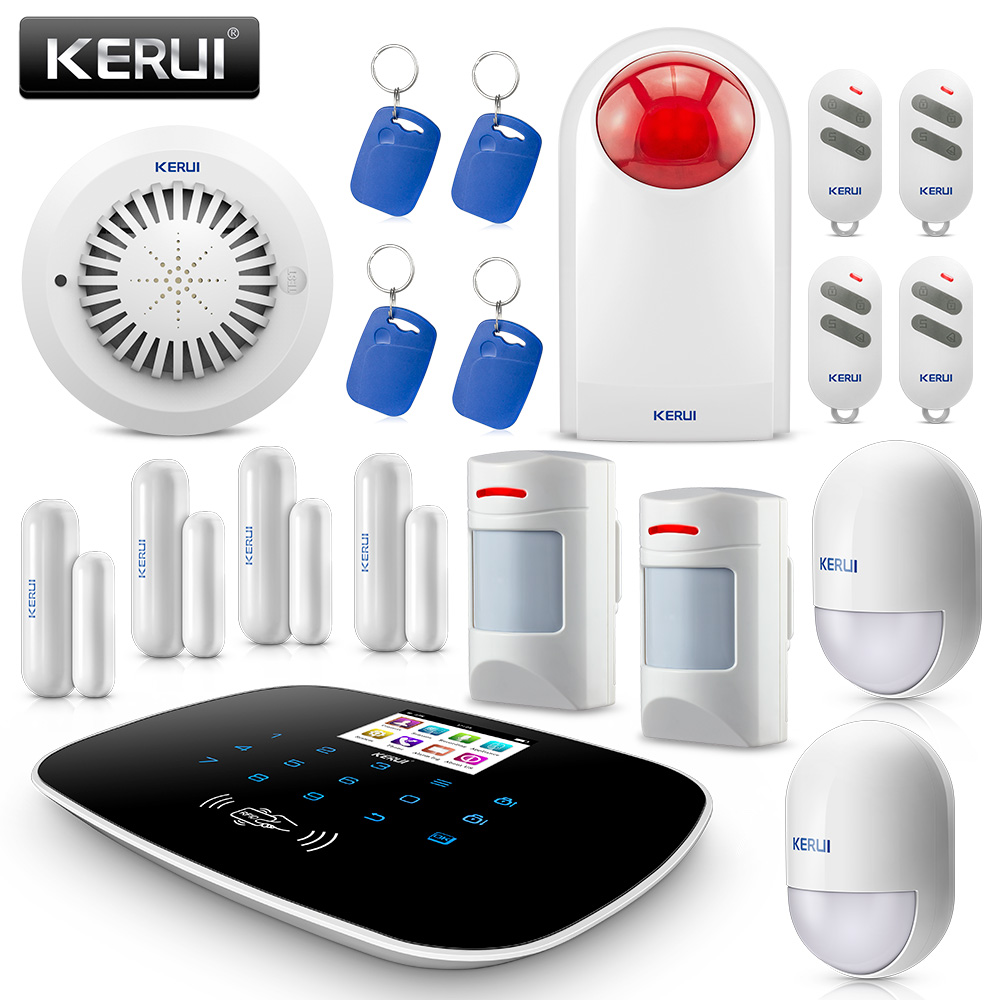 KERUI G19 intelligent Wireless Anti Pet Infrared GMS SMS Low Power Reminding Home Burglar Intruder Security Alarm System