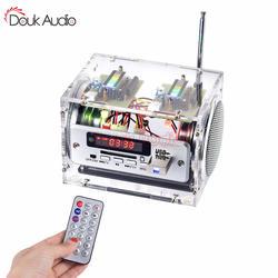 Douk аудио Многофункциональный 10 Вт усилитель аудио плеера Динамик Bluetooth, FM радио, USB, SD