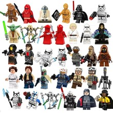 Lando Calrissian Rey Han Solo Yoda Clonetrooper Hoth Rebel Anakin A Wing Pilot building block toy Gift(China)