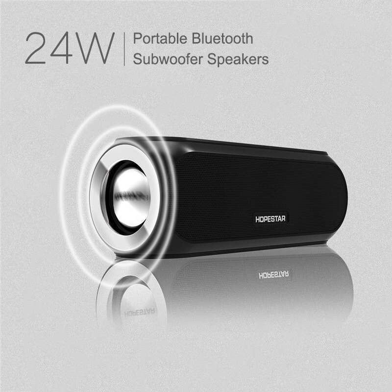 HOPESTAR H19 24W Portable Wireless Bluetooth Touch Control Speaker Outdoor Bass Speakers NFC Loudspeaker Subwoofer Sound Box ttlife mini portable touch button bluetooth speaker support fm radio nfc tfcard wireless super bass loudspeaker