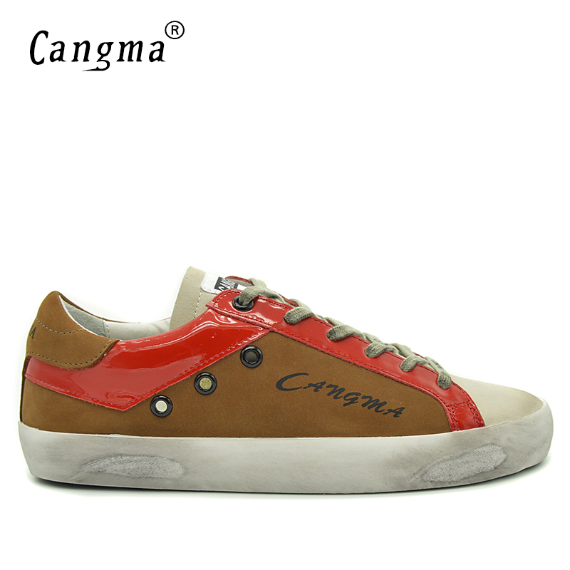 CANGMA Fashion Shoes Men Brown Designer Shoes Casual Luxury Genuine Leather Mens Breathable Male Shoe Adult Newest Footwear