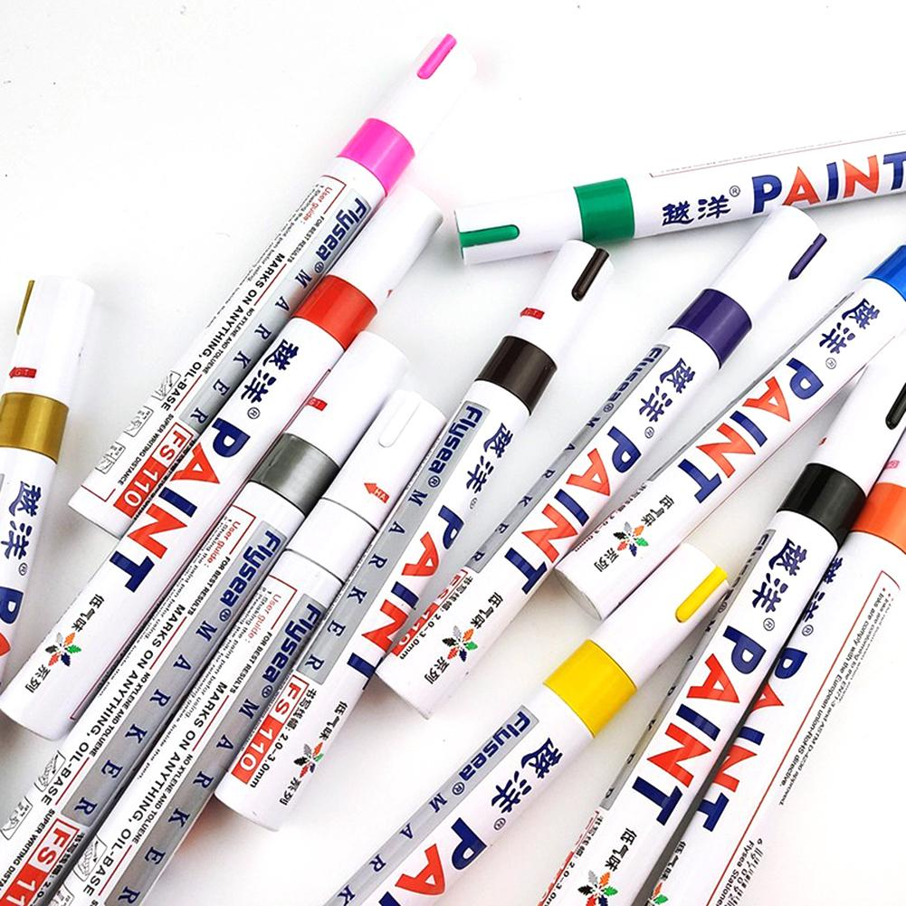 Waterproof Car Tire Paint Marker Pen Graffiti Sign In Pen Office Stationery Tire Water Based Premium Fill Paint Pen