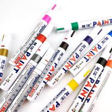 Waterproof Car Tire Paint Marker Pen Graffiti Sign In Pen Office Stationery Tire Water Based Premium Fill Paint Pen diy tire marker paint pen for auto car motorcycle yellow