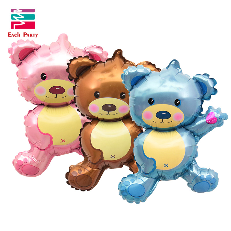 36 pollici Giant Teddy Bear Cartoon Foil palloncini Bambini cartoon forma decorazioni festa di compleanno Weddding party Baby Boy palle giocattoli