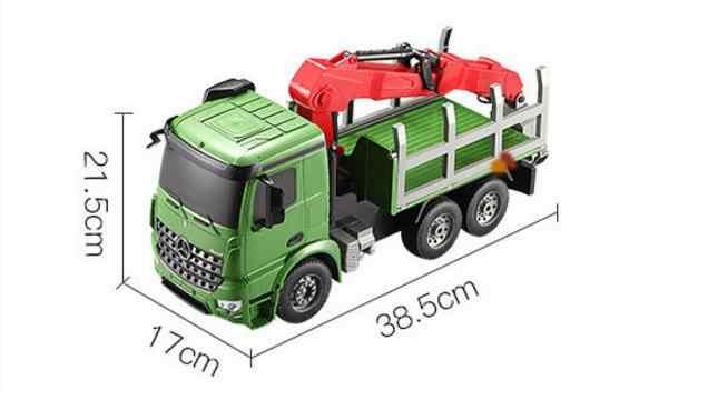 Camión RC 2,4G coche de alta velocidad modelo eléctrico Camión grúa luces simuladas juguetes para niños regalos de cumpleaños