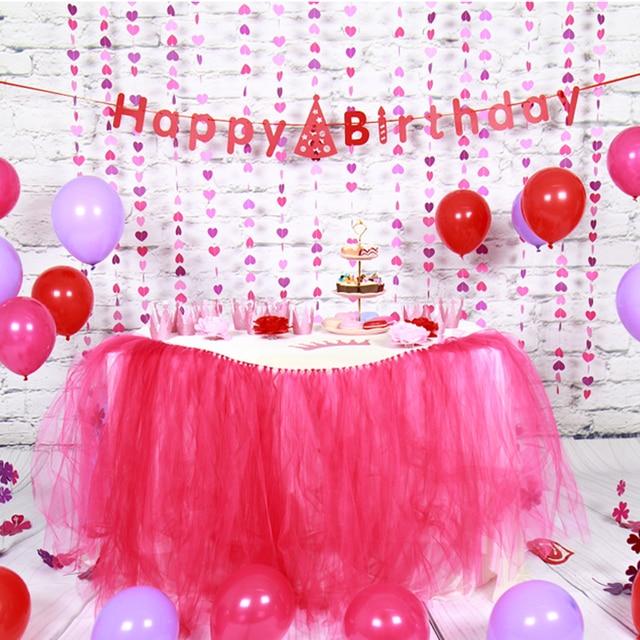 Marvelous Sunbeauty Set Pink Theme Happy Birthday Decoration DIY Kids Party Favor  Princess Happy Birthday Party Decorations