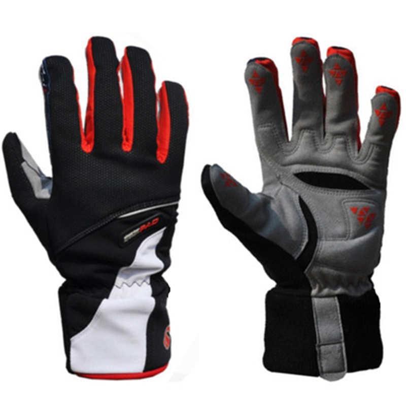 1 Pair ROBESBON Riding font b Gloves b font Full Finger Anti Slip Warm Windproof Super