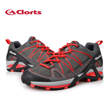 2017 women s sports shoes mountaineering shoes net breathable lights outdoor shoes ladies color red free
