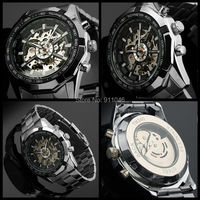 High Quality Steel Watch Hot Sale Men Mechanical Watches 50pcs Lot DHL Free Shipping Wholesale