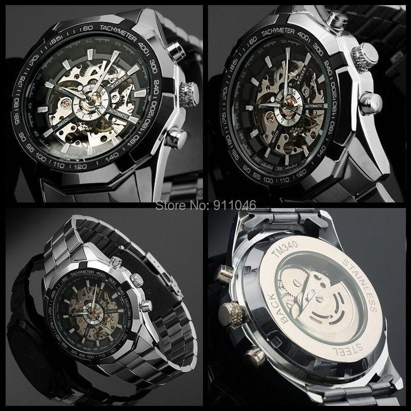 Relógio de Aço de alta Qualidade Venda Quente Homens Relógios Mecânicos 50 pçs/lote DHL Frete Grátis Por Atacado