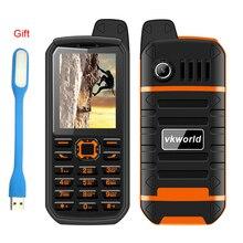 Оригинальный vkworld камень V3 плюс 4000 мАч мобильный телефон 2.4 «Водонепроницаемый dual sim gsm fm-радио фонарик русская Клавиатура